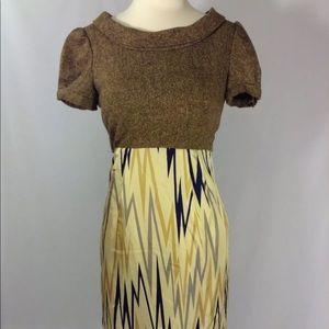 🌺Ali Ro Silk Wool Tweed Multicolored Dress Size 2